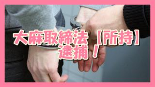 サムネ190706大麻取締法【所持】違反で逮捕
