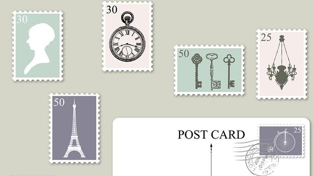 記事中190710アンティーク切手はがき