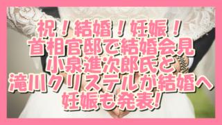 サムネ190807祝結婚妊娠!小泉進次郎滝川クリステル
