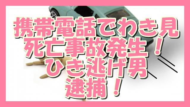 サムネ190903携帯脇見ひき逃げ男逮捕