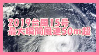 サムネ190909台風15号2019最大風速50m超