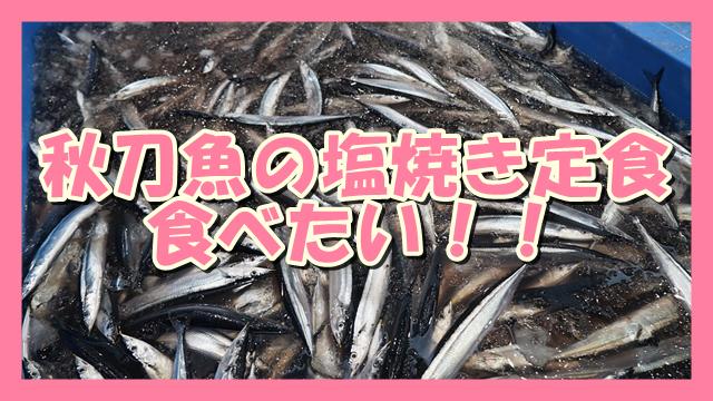 サムネ190919秋刀魚の塩焼き定食食べたい!